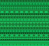 Green Aztec Pattern