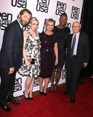 LOS ANGELES - NOV 11:  Lena Dunham, Judd Apatow, Amy Poehler, Aisha Tyler, Norman Lear at the PEN Center Literary Awards at the Beverly Wilshire Hotel on November 11, 2014 in Beverly Hills, CA