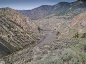 stock photo of sagebrush  - Early Spring in the Fraser River Canyon - JPG