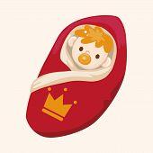 stock photo of prince charming  - Royal Theme Prince Baby Elements Vector - JPG