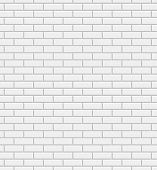 stock photo of wall-stone  - Vector white brick wall texture seamless pattern - JPG