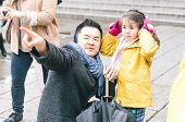 stock photo of shogun  - family in tokyo - JPG
