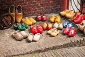 picture of clog  - Famous traditional Dutch wooden clogs - JPG