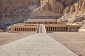 stock photo of hatshepsut  - Hatshepsut temple at west bank of Luxor Egpyt - JPG