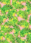 pic of palm  - seamless tropical palm pattern - JPG