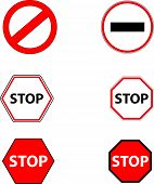 stock photo of banned  - Sign stop and ban - JPG