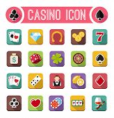 pic of coin slot  - Vector casino flat icons - JPG