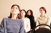 foto of middle class  - Group of womans sitting in education class - JPG