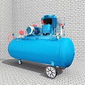 picture of air compressor  - Computer generated 3D illustration with an Air Compressor - JPG