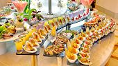 stock photo of chinese restaurant  - food buffet in restaurant - JPG