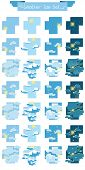 foto of cloudy  - vector weather Icon set in pixel style - JPG