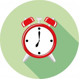 foto of analog clock  - flat icon clock vector classic hour analog - JPG