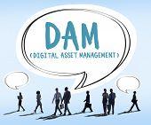 picture of dam  - DAM Digital Asset Management Organization Concept - JPG