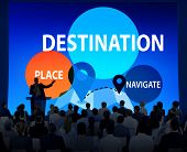 Destination Navigate Exploration Place Travel Concept poster