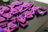 picture of tied  - many purple Bow Tie  - JPG