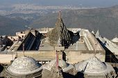 picture of jain  - Jain temple complex on the holy Girnar hill near the Junagadh city in Gujarat - JPG