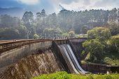 stock photo of dam  - Big dam in beautiful landscape in the India - JPG