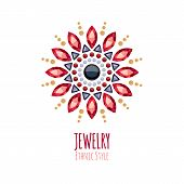 foto of jewelry  - Elegant gemstones vector jewelry decoration - JPG