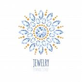image of jewelry  - Elegant gemstones vector jewelry decoration - JPG