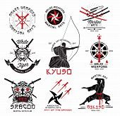picture of crossed swords  - Set of martial arts - JPG