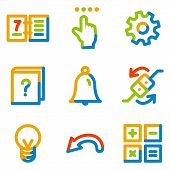 Organizer Icons, Colour Contour Series