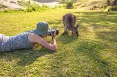 Постер, плакат: Wildlife Woman Photographer