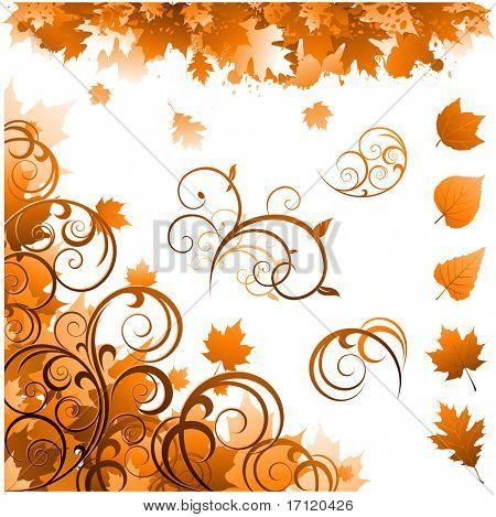 Постер, плакат: Осенние украшения, холст на подрамнике
