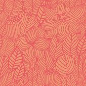Floral seamless pattern in orange
