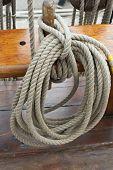 Ropes On Sailing Ship