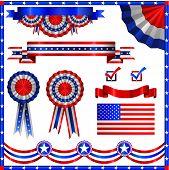 picture of american flags  - American patriotic elements - JPG