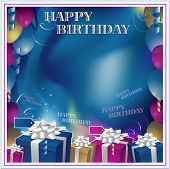 image of happy birthday card  - Happy birthday background - JPG
