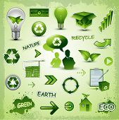Eco recycle environment icons