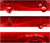 picture of christmas-present  - Red christmas banners - JPG
