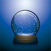 Empty Christmas snow globe
