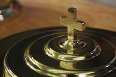 Communion Plate Cross