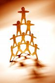 stock photo of human pyramid  - Team support - JPG