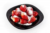 strawberries with sugar