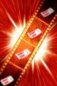 Tickets on filmstrip