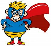 Cute Cartoon Superboy