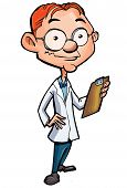 Cartoon Of A Nerdy Doctor