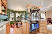 Постер, плакат: Bright Colorful Rambler Kitchen Room Design