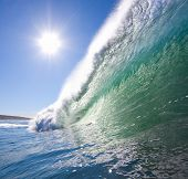 Big Blue Wave with Sun