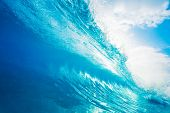 Breaking Blue Ocean Wave