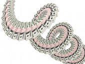 Paquetes de dólares de dinero móvil por espiral aislado con trazado de recorte incluido