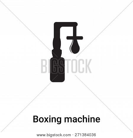 Boxing Machine Icon In Trendy
