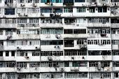 Old apartments in Hong Kong.
