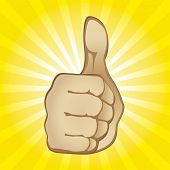 Thumb Up Gesture (editable vector). In the gallery also available XXL jpeg image made from this vect