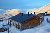 Ski Resort in the mountains of Lebanon. Faraya