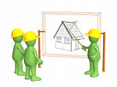 Builders - Puppet, Discussing The Project Of A Building