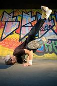 stock photo of break-dancing  - Girl break - JPG